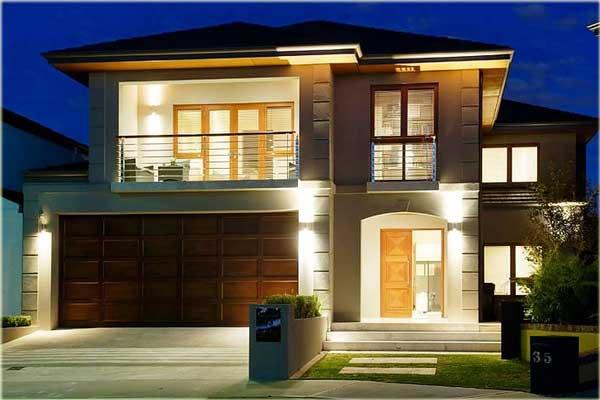 desain rumah minimalis dua lantai sederhana