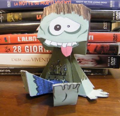 Lo Zombie Paper Toy di ZombieKB!