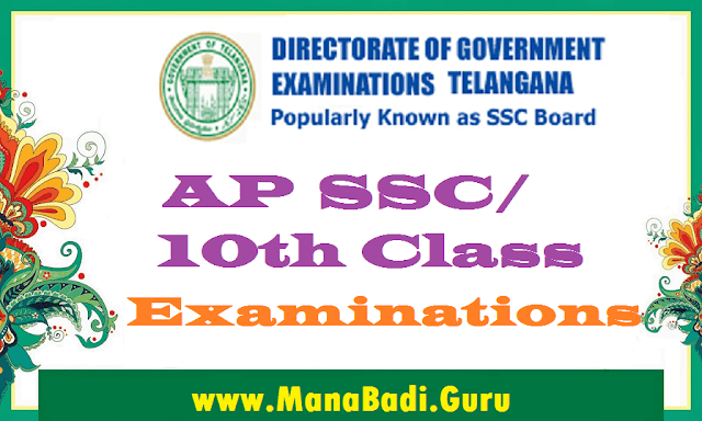 AP SSC Exams Time table,Hall tickets,Results