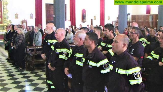 Los Bomberos de La Palma celebraron ayer la Festividad de su Patrón