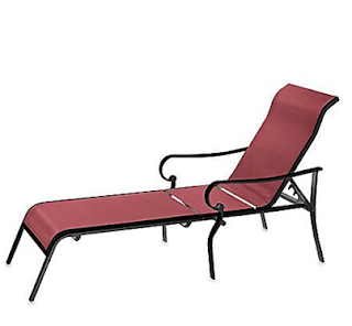 Outdoor Oversized Adjustable Sling Chaise