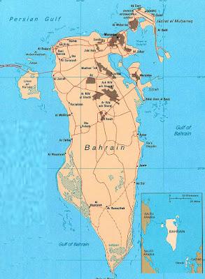 Gambar Peta Negara Bahrein Lengkap