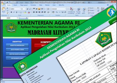Aplikasi Pengolahan Nilai Rapor Madrasah Aliyah ( MA ) Kurikulum 2013