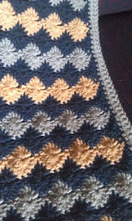 catherine wheel stitch crochet blue afghan