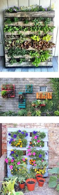 como hacer un jardin vertical con pallets de madera