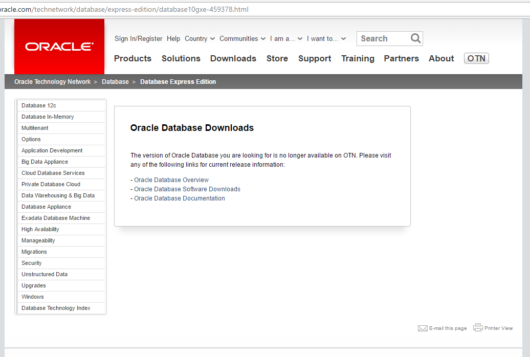 Installing oracle database 10g express edition.