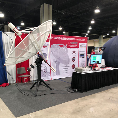 Getting your own radio telescope is easy to do today (Courtesy: Primalucelab booth at AAS 231)