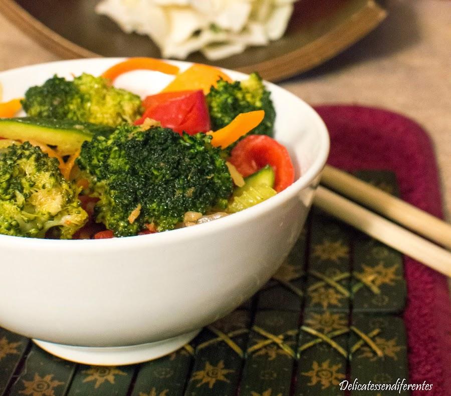 wok de verduras oriental
