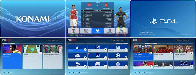 Playstation Graphic Menu PES 2017