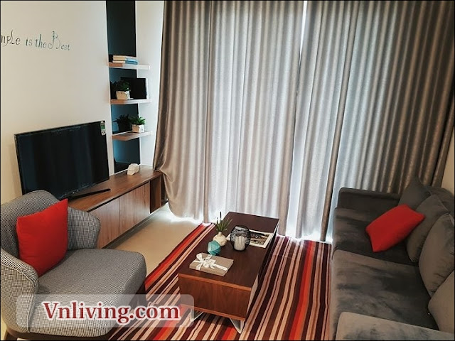 Living room Masteri Thao Dien apartment for rent Tower 1 unit 8