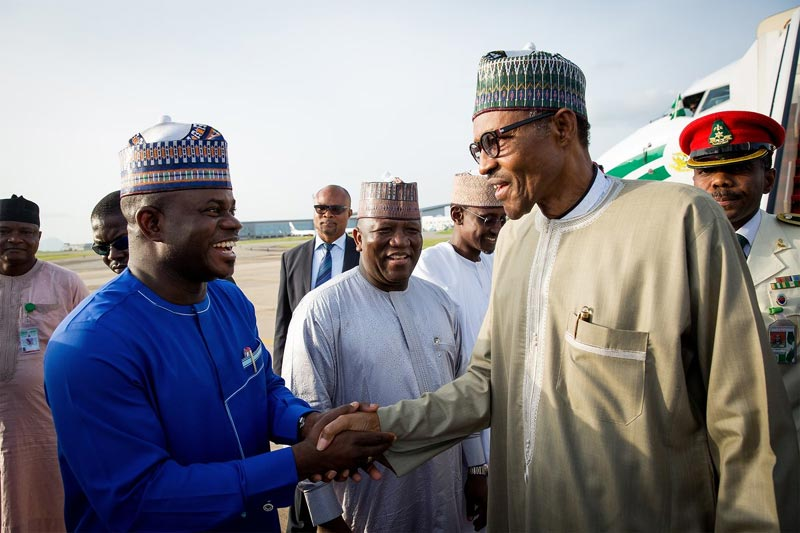 Photos: President Buhari returns to Nigeria after London visit