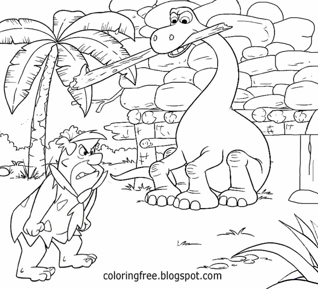 lets coloring book flintstones coloring stone age cartoon caveman