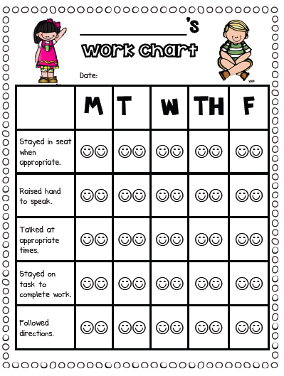 behavior charts for preschoolers template - sarah 39 s first grade snippets individual behavior chart