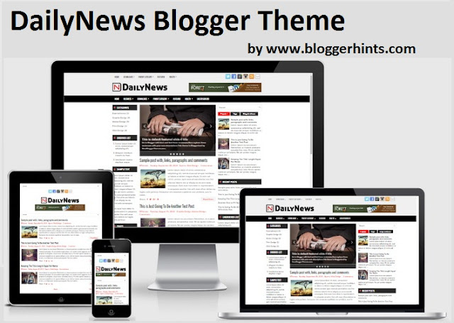DailyNews Free Blogger Template