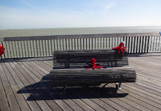 Hastings Pier Yarn Bomb