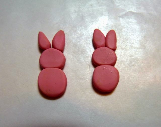 Make It Easy Crafts Polymer Clay Bunny Peeps Earrings