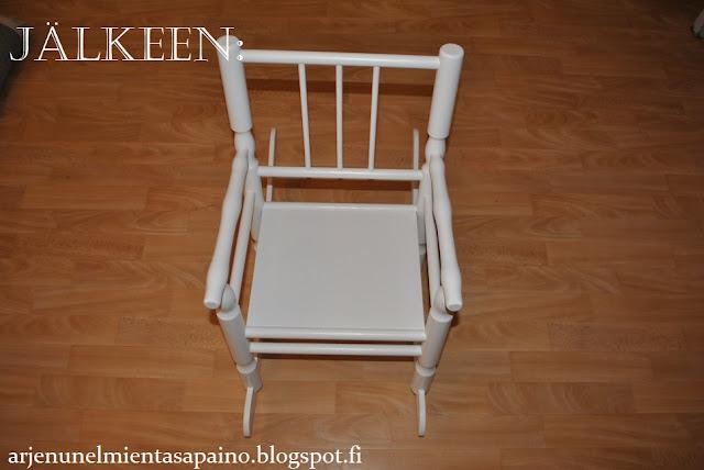 vanhan, keinun, tuolin, maalaus, kalustemaali