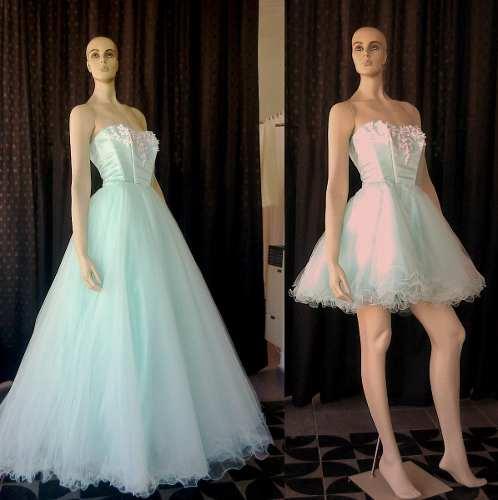 Vestido 15 Años Desmontable Largo A Vestido Corto 2018