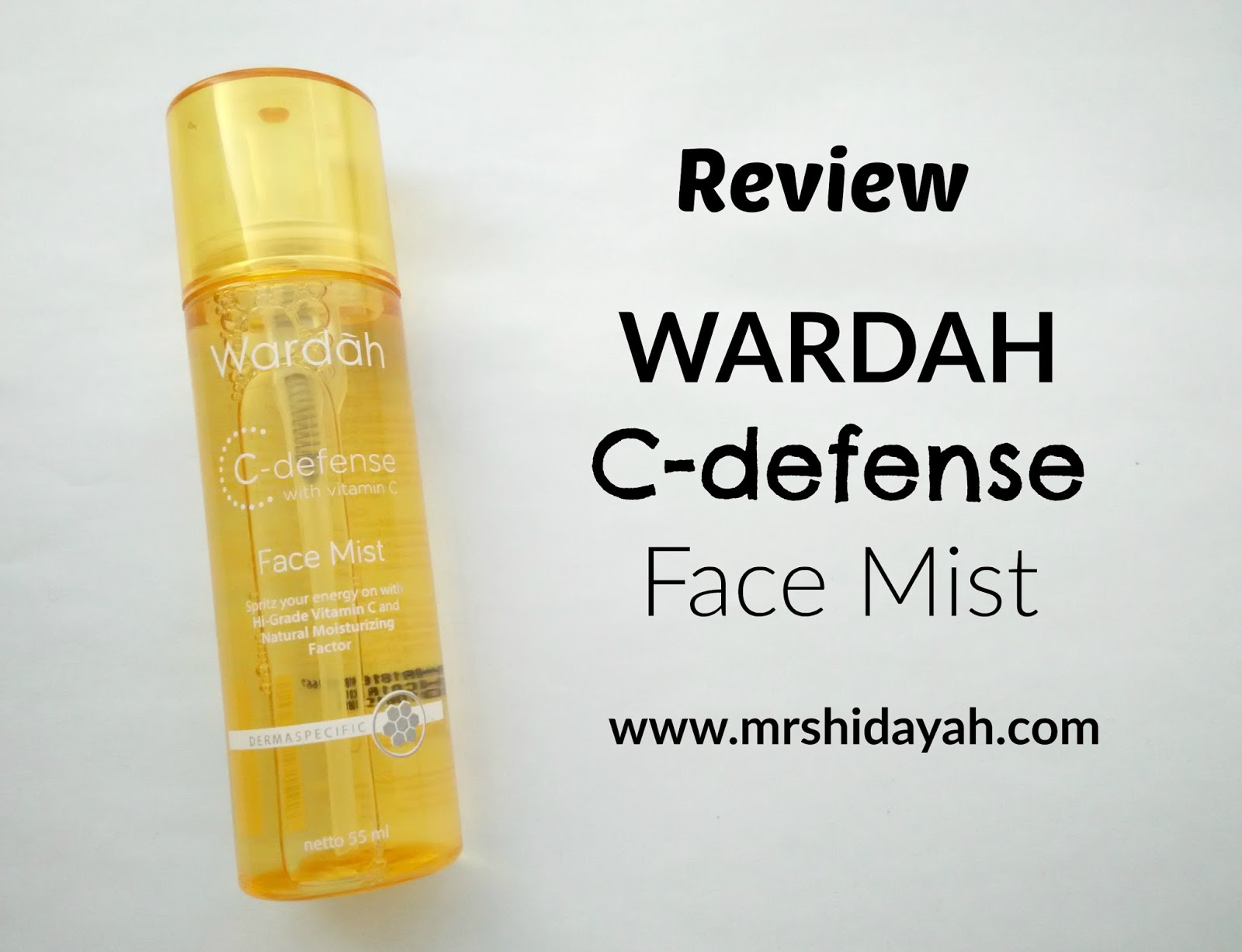 Review Wardah C defense Face Mist