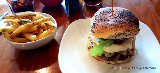 Hambúrguer do Real Gourmet Burger, em Dun Laoghaire, Irlanda