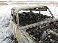 (ФОТО)В результате поджога сгорел легковой автомобиль ВАЗ-2105