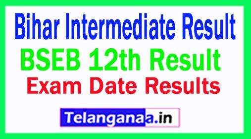 BSEB Bihar Intermediate Result 2018, Check Bihar Board 12th. Results 2018 Date Online