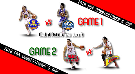 List of PBA Games: June 3 at Mall of Asia Arena 2018 PBA Commissioner's Cup