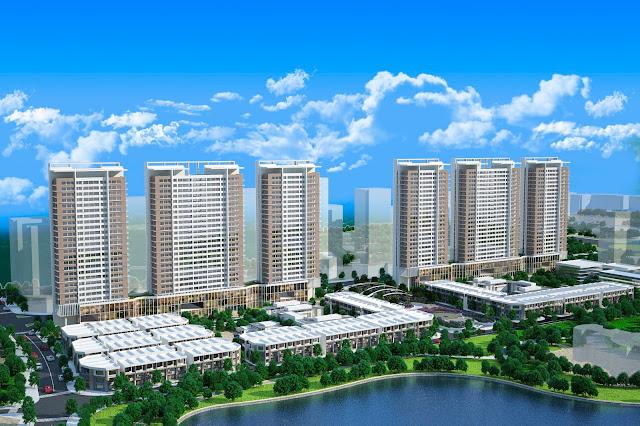Phối cảnh Khai Sơn City Long Biên