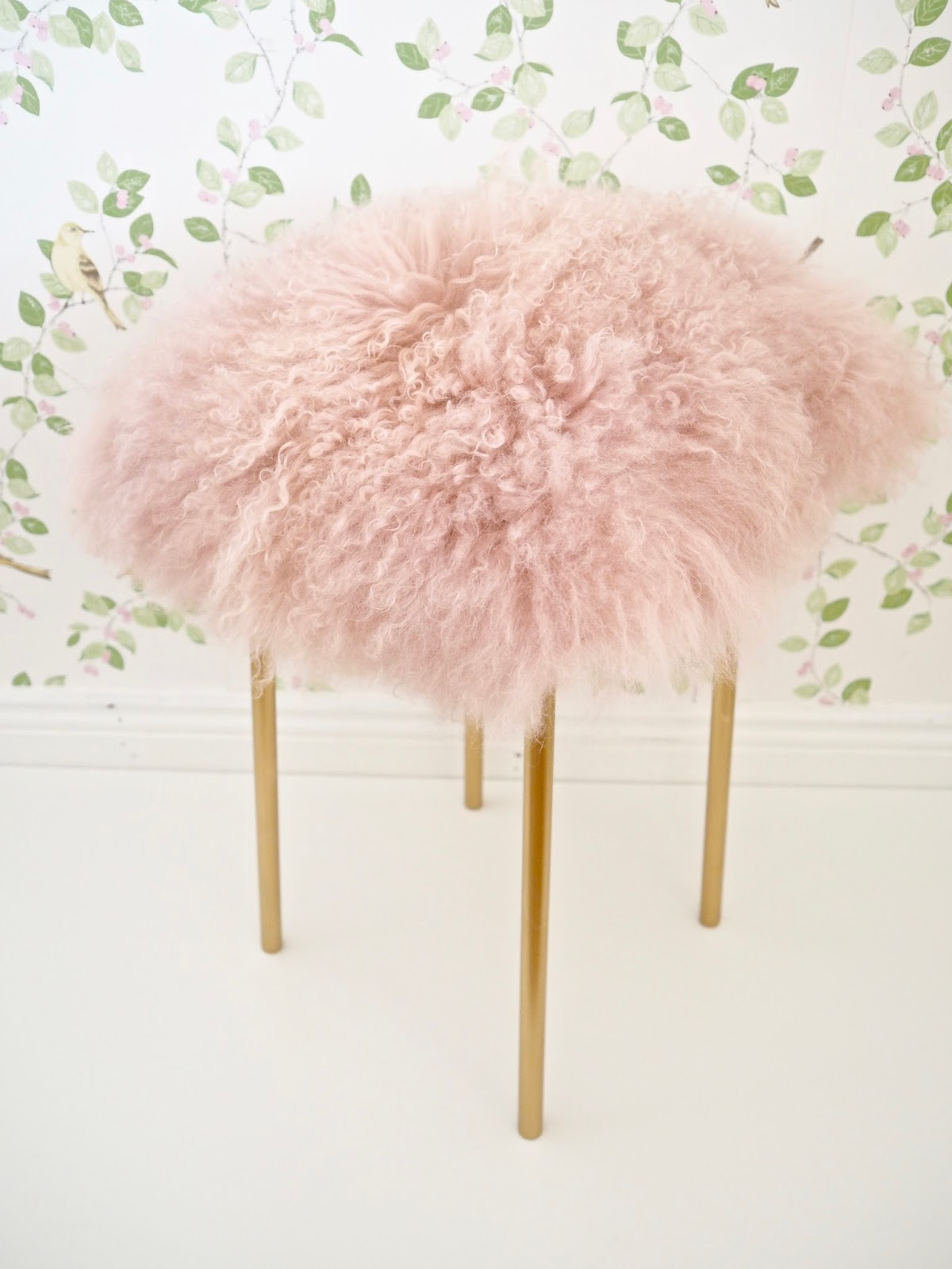 Pink Fluffy Chair Ikea Hack Diy Fur Stool Dainty Dress Diaries