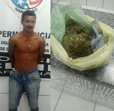 Em São Benedito do Rio Preto: Suspeito de praticar homicídio é preso com drogas
