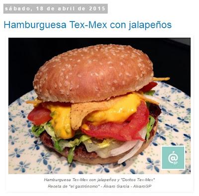 Recetas TOP10 de El Gastrónomo en mayo 2016 - Hamburguesa Tex-Mex con jalapeños