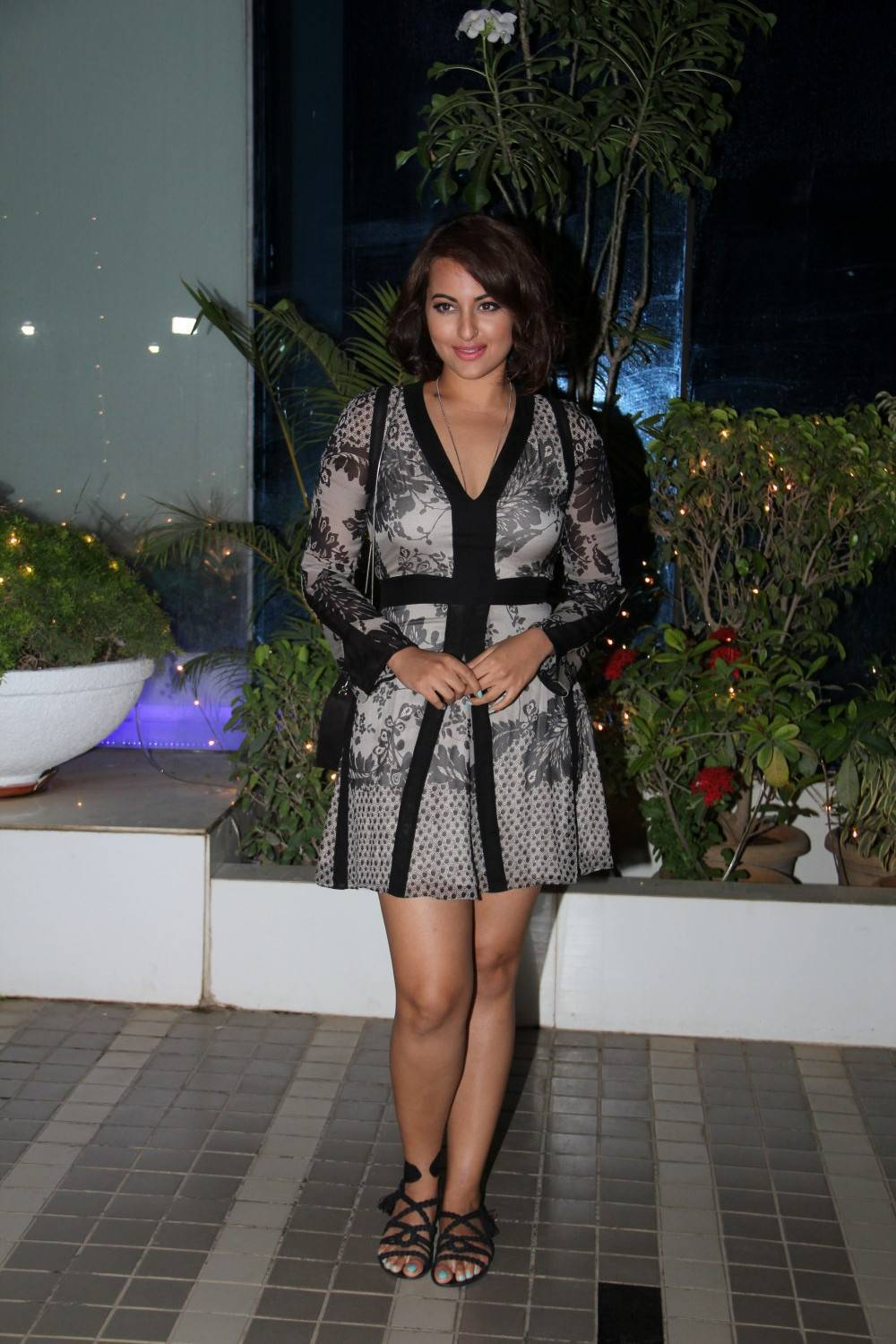 Sonakshi Sinha At Movie Special Screening In Black Skirt