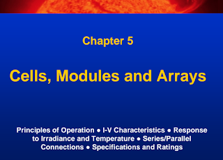 Learn Solar PV Systems:5- Cells, Modules, and Arrays