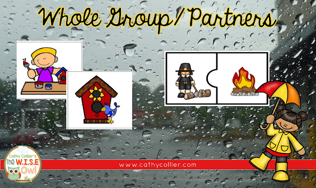 Teaching Cause and Effect to early learners can be as easy as understanding the relationship between rain and umbrellas. Students can create these statements in whole group, with a partner, and independently.