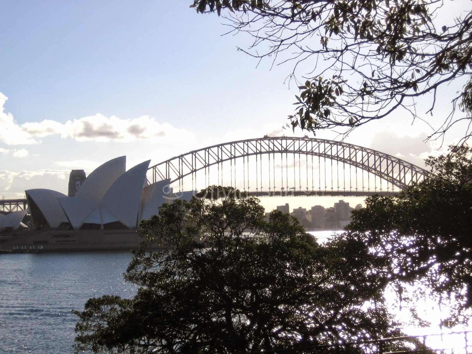 Sydney Harbour Bridge et Sydney Opera House, Royal Botanic Gardens, Sydney, Australie