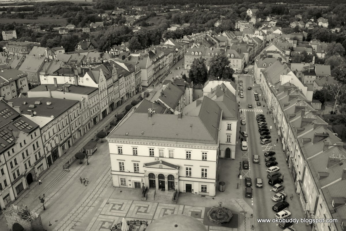 Złotoryja - widok z wieży kościoła Narodzenia NMP
