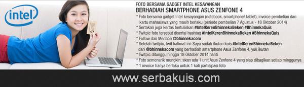 Kontes Twitpic Gadget Intel Berhadiah ASUS Zenfone 4 per Minggu