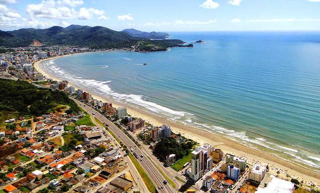 foto aérea de Itapema