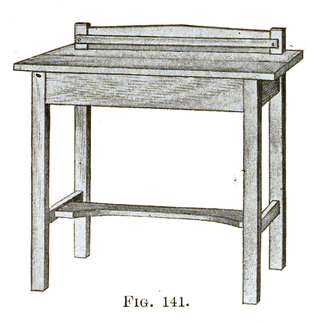 mission style writing desk plans - how to build a mission writing