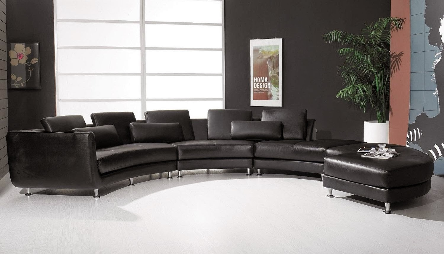 Modern curved sofas reviews curved sofas uk for Curved leather sectional sofa uk
