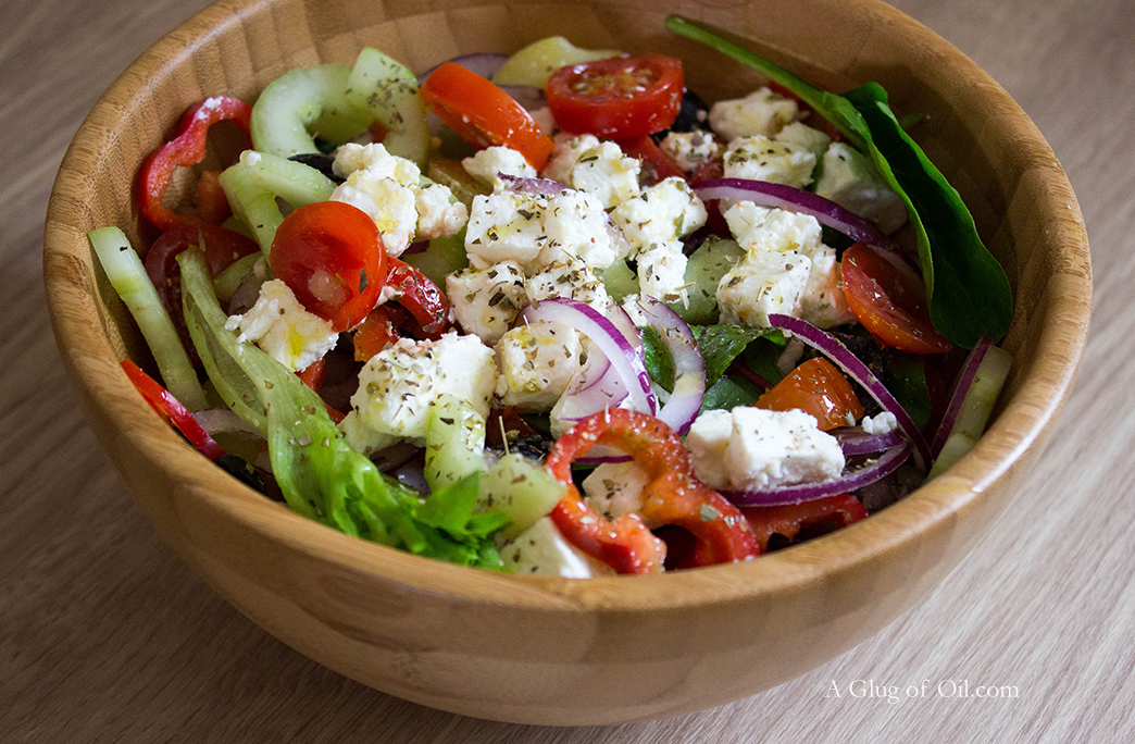 Greek Salad with Potatoes