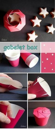 PAP- Caixinha Surpresa feita com copinhos de papel