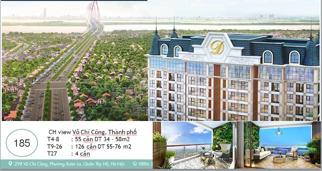 Thiết kế và kiến trúc tòa Phú Thanh dự án D' ELDORADO II Tây Hồ