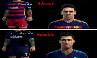 Faces Messi Mas Ronaldo Tattoo 2016 Pes 2013
