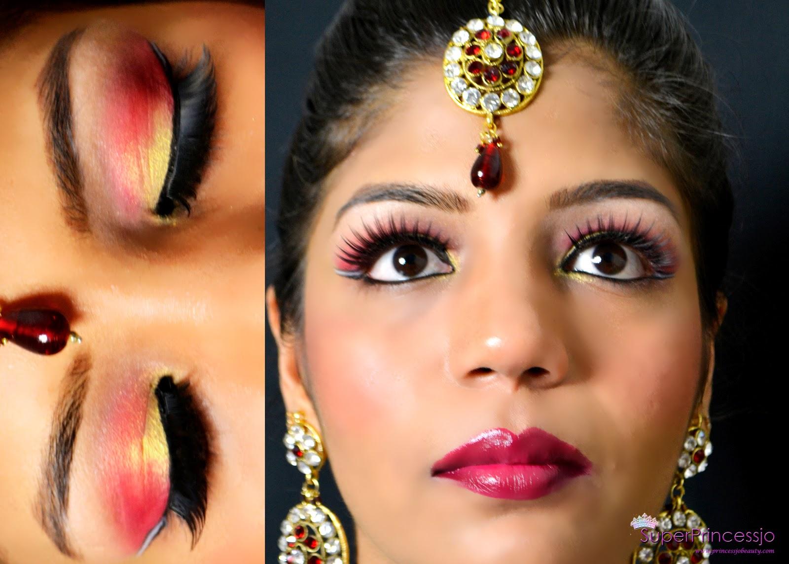 superprincessjo : indian bridal wedding makeup -red gold eye makeup
