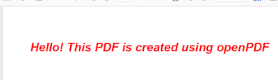 creating PDF in Java using openpdf