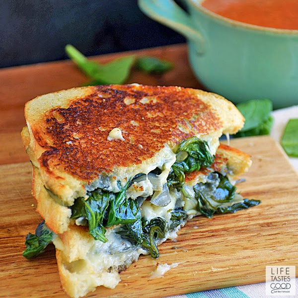 Spinach Artichoke Grilled Cheese | by Life Tastes Good is the classic ...