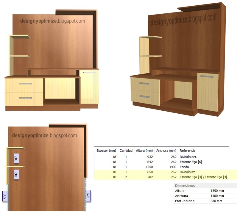 Dise o de muebles madera crear centro entretenimiento for Diseno de muebles de madera modernos