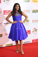 Eesha in Cute Blue Sleevelss Short Frock at Mirchi Music Awards South 2017 ~  Exclusive Celebrities Galleries 077.JPG