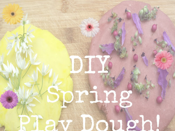 DIY Spring Themed Play Dough {Kids Craft}
